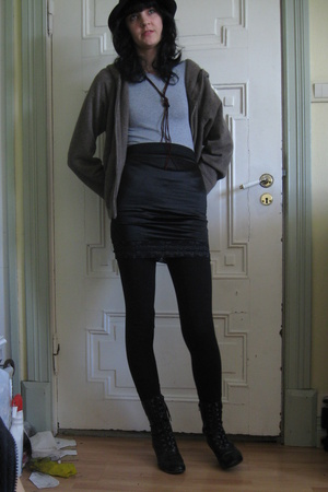 skirt - H&M t-shirt - jacket - shoes