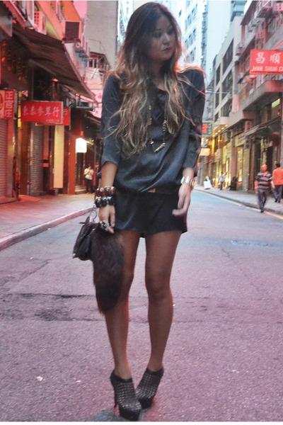 black silk StyleIN dress