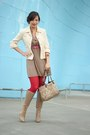 Camel-charles-david-boots-camel-francescas-collections-dress