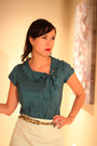 Teal-banana-republic-blouse-heather-gray-jc-penney-tights