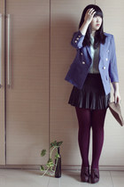 blue Lily blazer - dark brown dfuse shoes