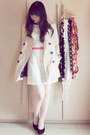 Off-white-lily-dress-beige-trench-stradivarius-coat-hot-pink-forever-21-belt