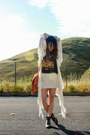 Vintage-t-shirt-spell-cardigan-h-m-skirt