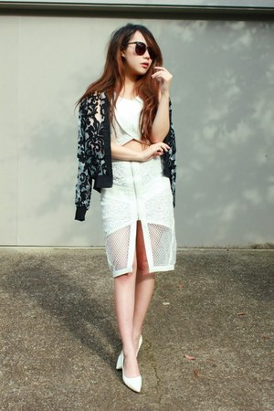 Endless Rose skirt - cameo jacket - Endless Rose top - Jimmy Choo pumps