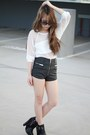 Sam-edelman-boots-unif-shorts-nasty-gal-top-michael-kors-glasses
