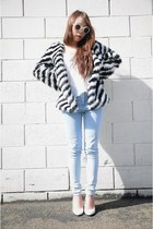 Nasty Gal coat - Wildfox glasses - Nasty Gal top - Nasty Gal pants