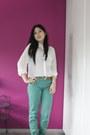 Zara-jeans-h-m-necklace-h-m-blouse-braided-mango-wedges