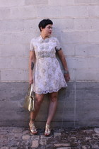 silver Ranshoffs dress - gold bag