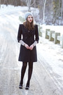 Black-bcbg-max-mara-coat-heather-gray-lace-free-people-dress