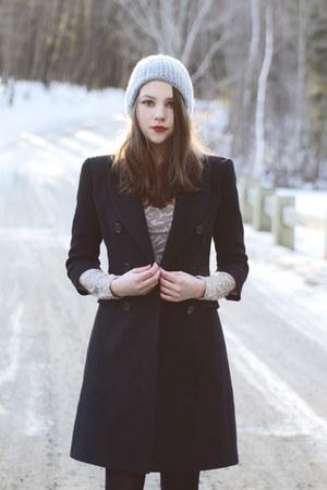 black bcbg max mara coat - heather gray lace free people dress