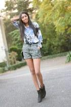 asoscom shorts - Topshop blouse