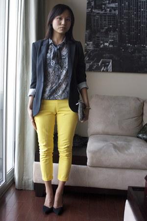 Zara pants - Forever 21 blazer - Forever 21 purse - Zara pumps - Zara blouse