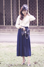 Silk-vintage-blouse-sportsgirl-purse-chiffon-skirt