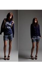 Urban Outfitters blazer - abercrombie & fitch shirt - Zara panties - Zara shoes
