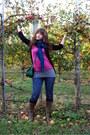 Laila-rowe-scarf-amethyst-ann-taylor-t-shirt