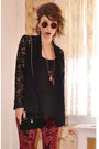Black-velvet-asos-bag-brick-red-ebay-sunglasses-black-lace-inc-cardigan