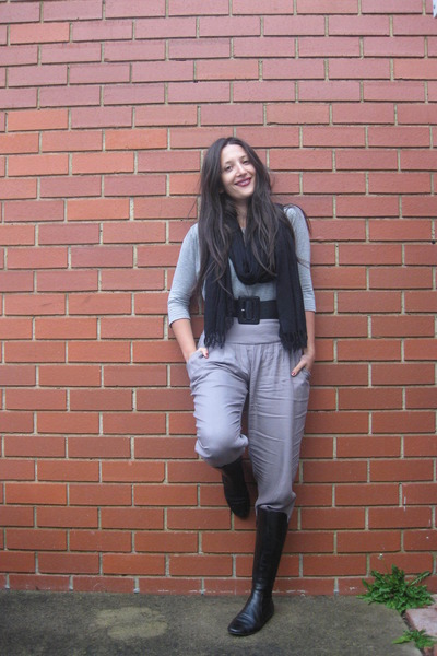 pants - gray Witchery top - black Witchery belt - black boots