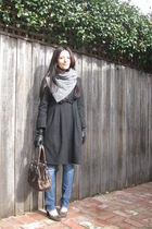 gray Camilla & Marc coat - brown Prada purse - blue Grab jeans - silver Country
