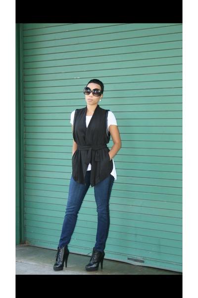 black vest