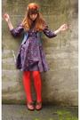 Purple-h-m-dress-red-modcloth-tights-blue-h-m-vest-brown-seychelles-shoes-