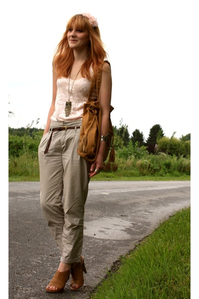 Zara pants - Pimkie top - zara old collection bag