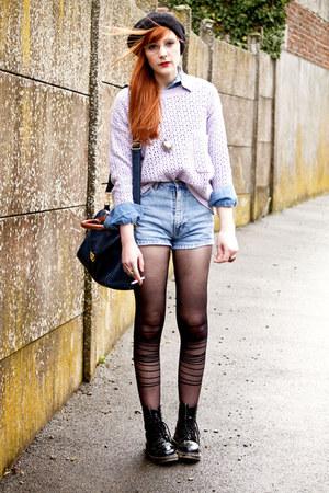 Chicwish sweater - doc martens boots - romwe shirt - Naf Naf bag