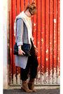 Zara-pants-h-m-shirt-vintage-purse-h-m-scarf