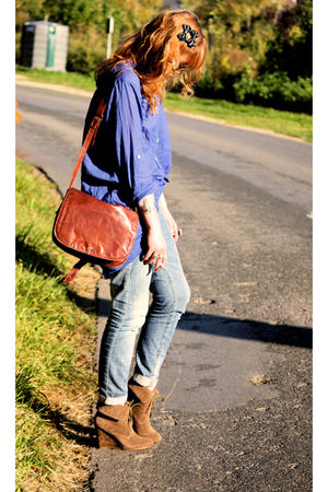 Zara shirt - Zara boots - Pimkie jeans - vintage purse - H&amp;M accessories
