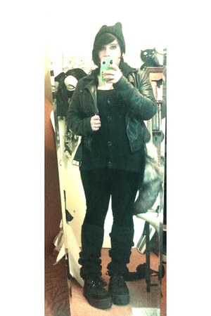 H&amp;M jacket - H&amp;M leggings - Forever 21 cardigan