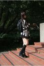 black wedges Jeffrey Campbell shoes - H&M Sweater dress