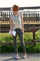 Zara pants - George Gina & Lucy sunglasses - de fonseca wedges - Zara blouse