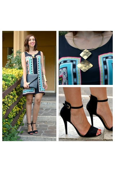 Promod dress - Zara shoes - H&M bag - Promod necklace