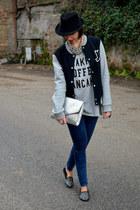 Zara flats - pull&bear jeans - H&M bag - Zara t-shirt - WESC sweatshirt