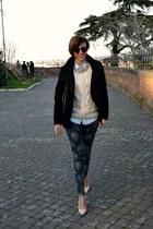 Zara heels - Pimkie coat - Bershka sweater - Stradivarius shirt