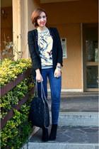 Zara boots - pull&bear jeans - Zara blazer - OASAP sweatshirt