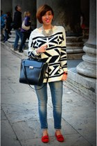 Zara jeans - Mango sweater - Zara bag - Zara loafers - H&M necklace