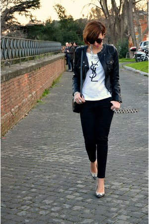 H&amp;M t-shirt - TANGRAM jacket - Zara pants - Zara heels - H&amp;M bracelet