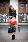 Friis-company-boots-romwe-jacket-modekungen-bag-forever-21-skirt