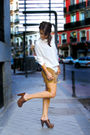 Beige-zara-blouse-beige-zara-shorts-brown-zara-shoes