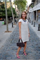 Lowlita and You necklace - Sfera dress - Mango bag - Pilar Burgos heels