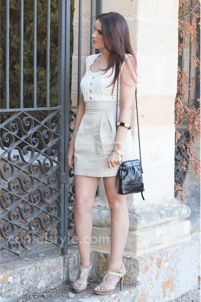 BLANCO dress - Matties bag - Guess sandals - BLANCO bracelet