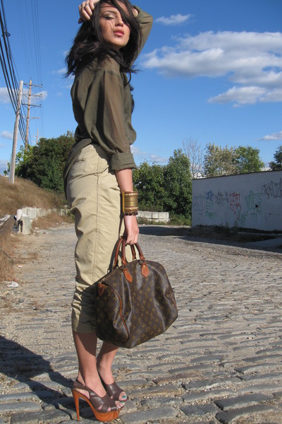 Louis Vuitton purse - H&M pants - H&M blouse - Forever 21 accessories