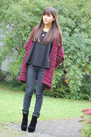unknown cardigan - Nelly shoes - REPLAY jeans - H&M blouse