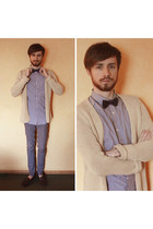 violet Galeries Lafayette shirt - charcoal gray Zara shoes