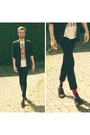 Black-pull-bear-jeans-ruby-red-h-m-socks-white-h-m-t-shirt