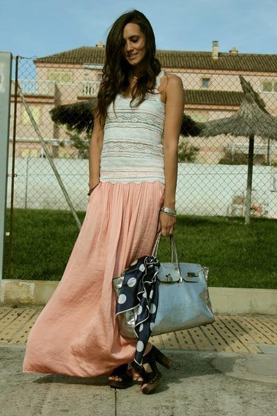Zara skirt - BLANCO bag - Pura Lopez heels