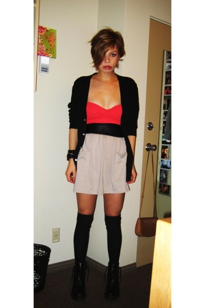 VS - American Apparel - American Apparel skirt - American Apparel - H&M socks -