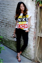 vintage t-shirt - crop Level 99 pants - floral Miu Miu pumps