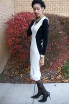 black sweater Victorias Secret dress - black HUE stockings