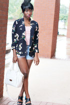 navy Tobi blazer - peach tankpeachblush Jcrew shirt - white Cole Haan bag